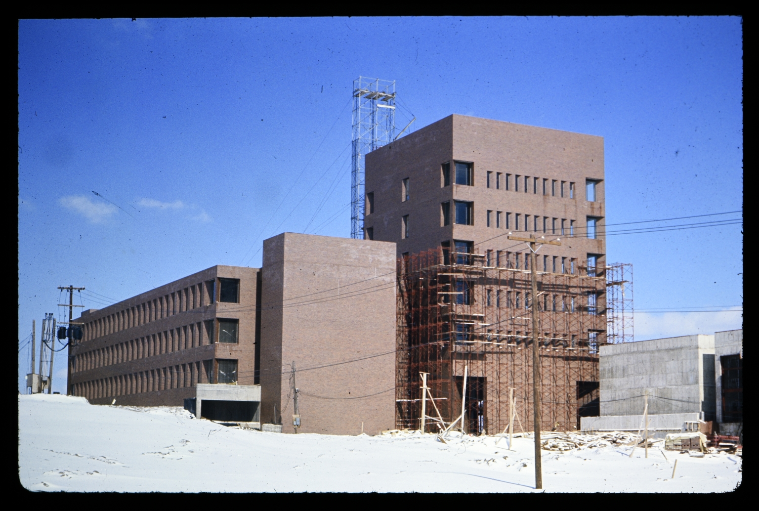 Eastman Hall during construction
