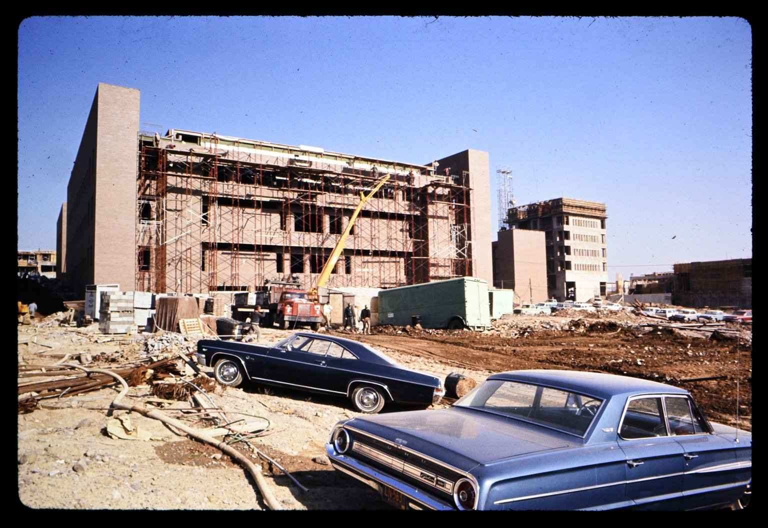 Wallace Library during construction
