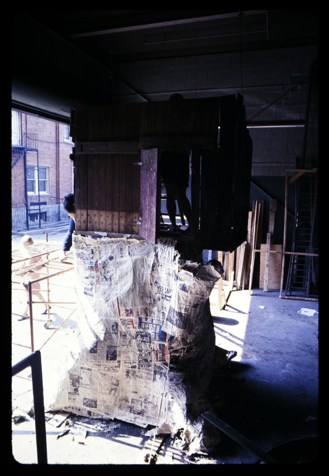 Papier mache construction