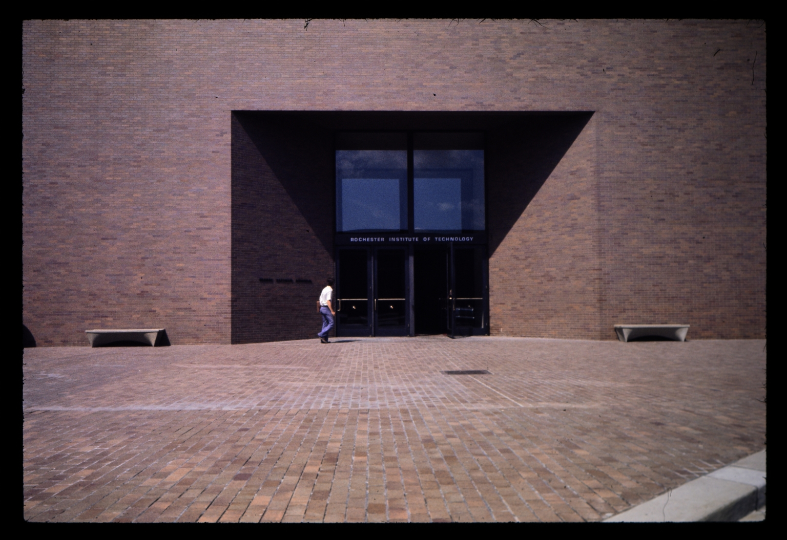 Front entrance to Geroge Eastman Hall