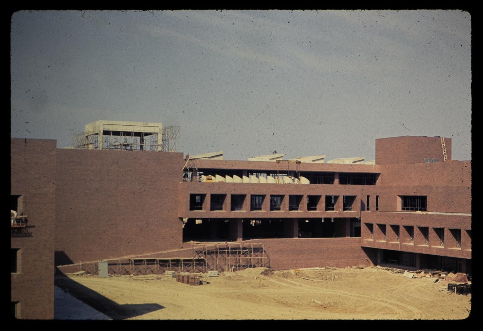 Construction of James E. Booth Hall