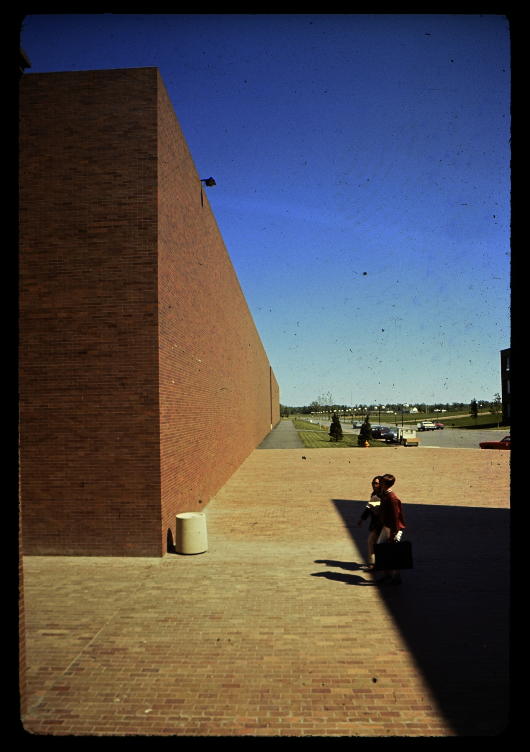 Brick wall of George H. Clark Gymnasium