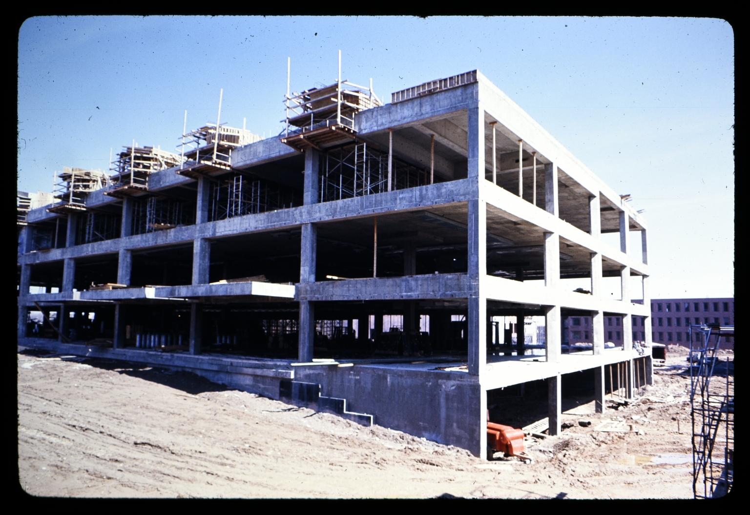 James E. Booth Hall construction