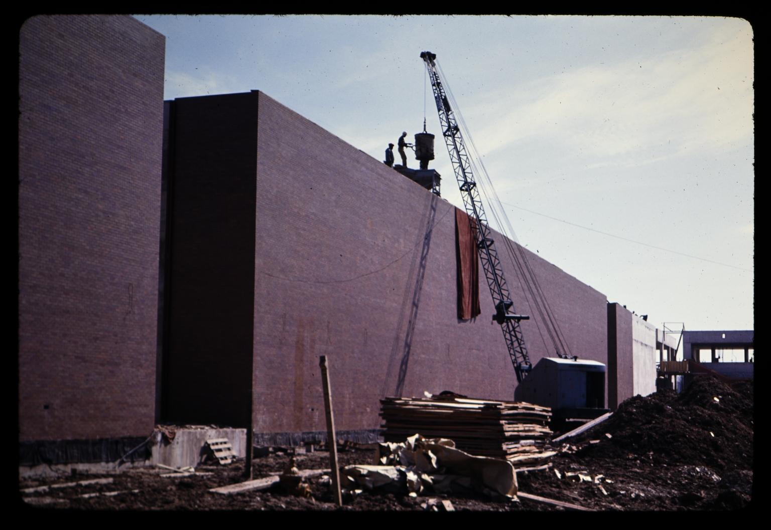 Construction of George H. Clark Gymnasium