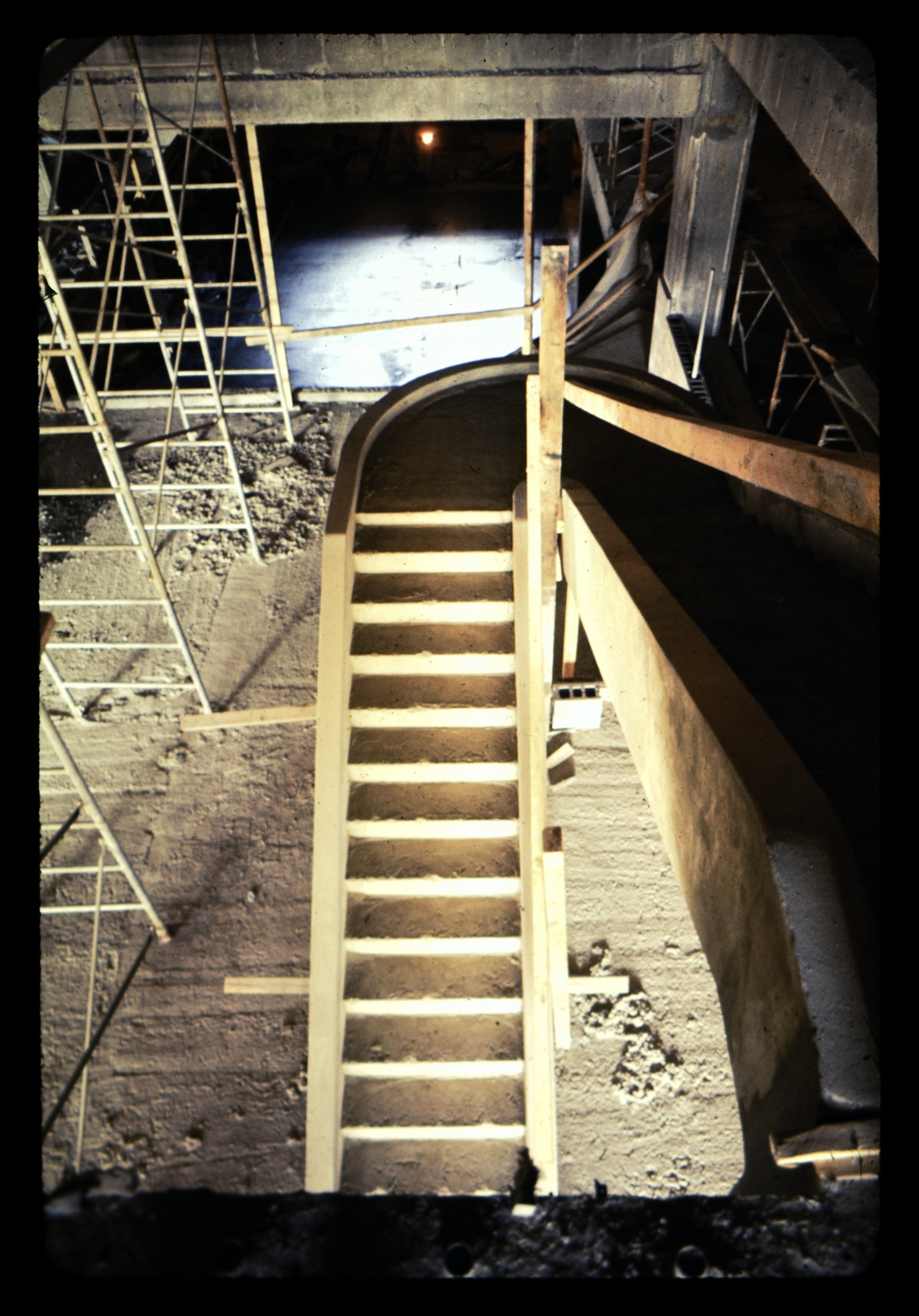 Construction of an interior stairwell
