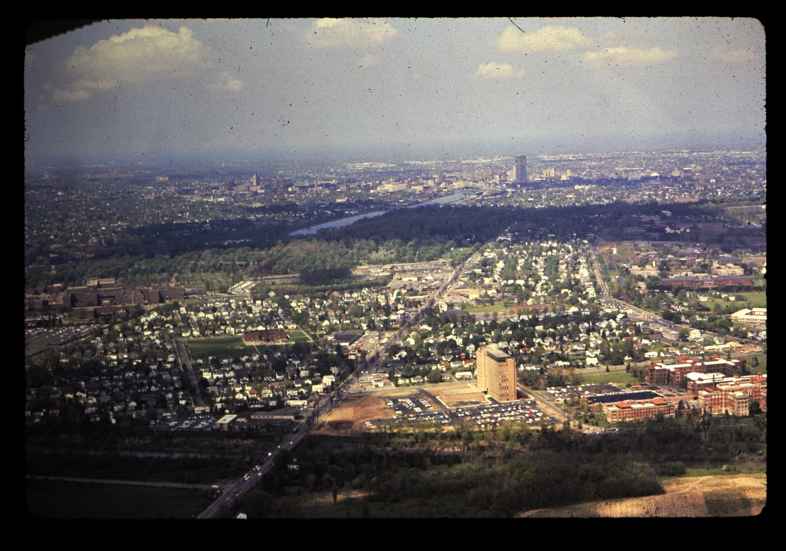 Aerial photograph of Rochester