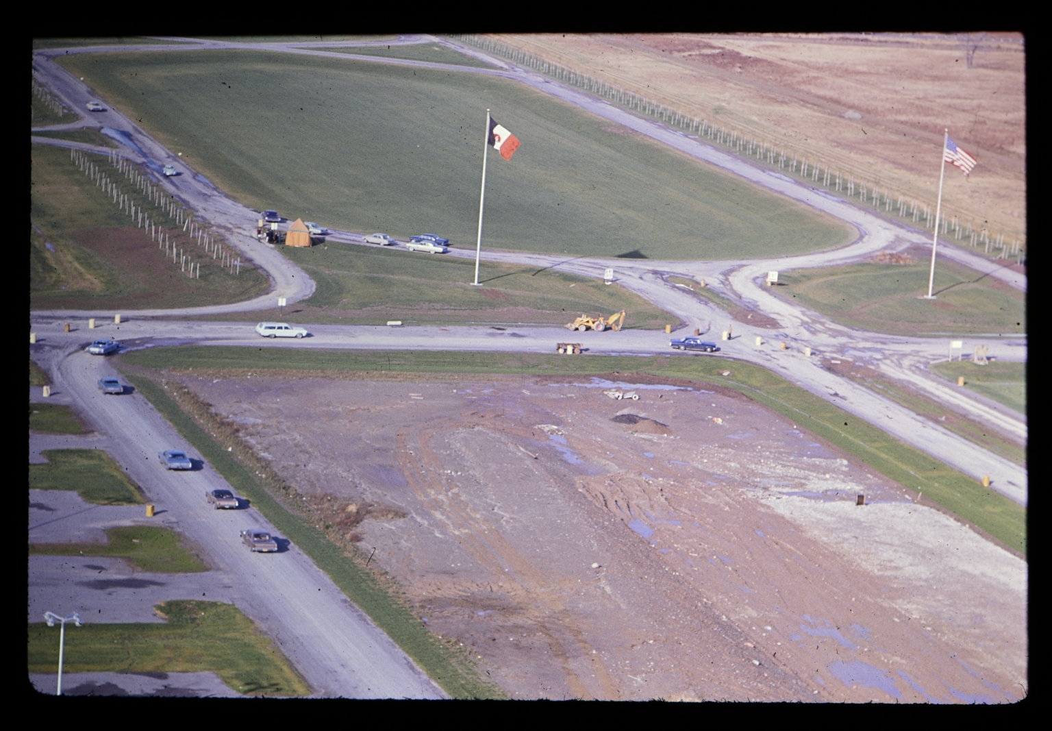 Lomb Memorial Drive during construction