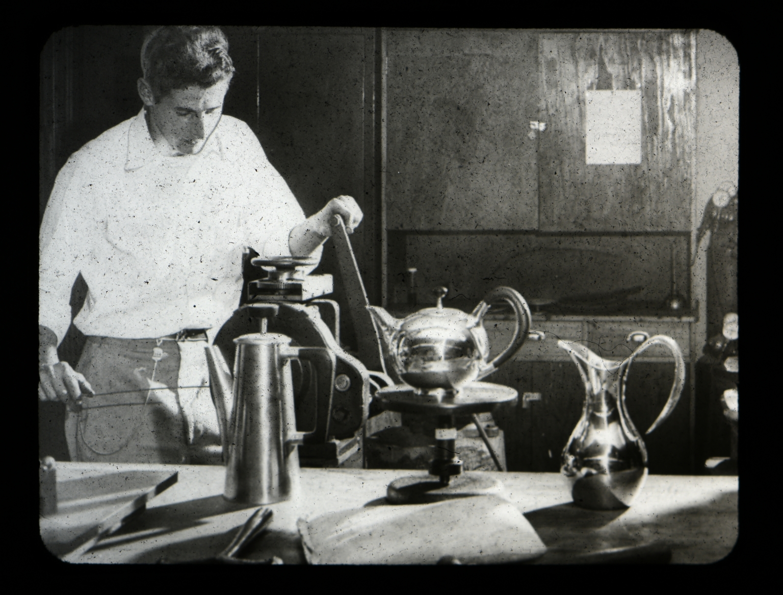 Silversmithing student