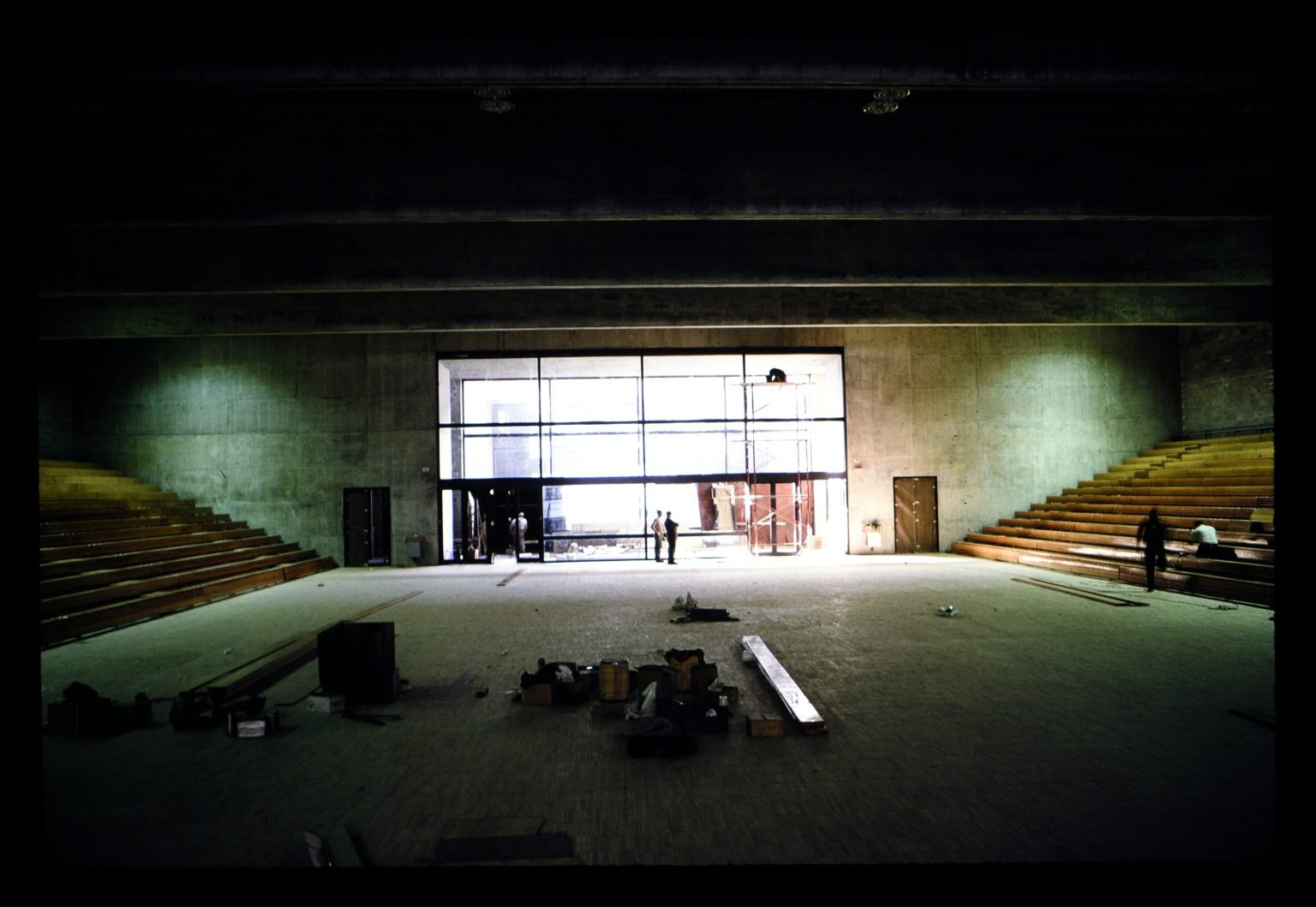 Construction in George H. Clark Gymnasium