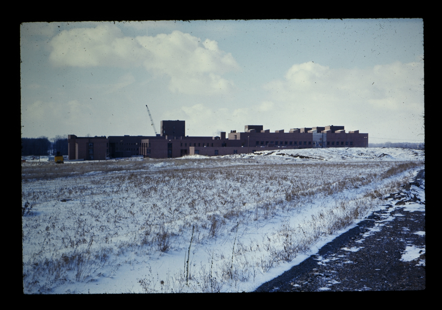 Academic buildings in winter