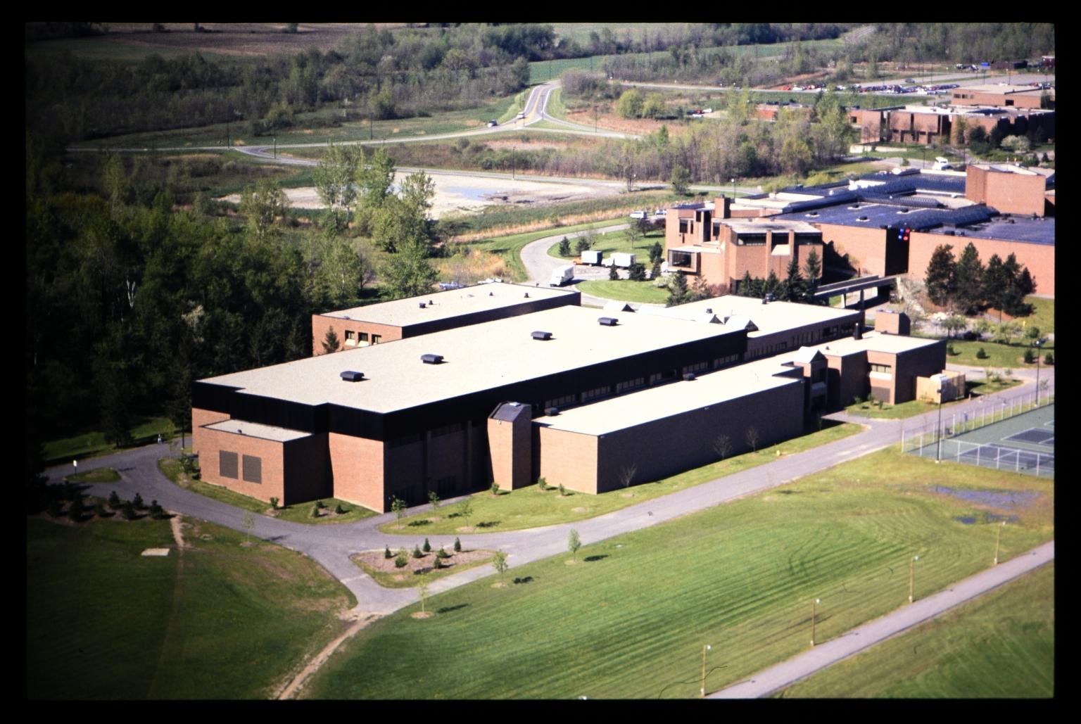 Aerial view of the Henrietta campus