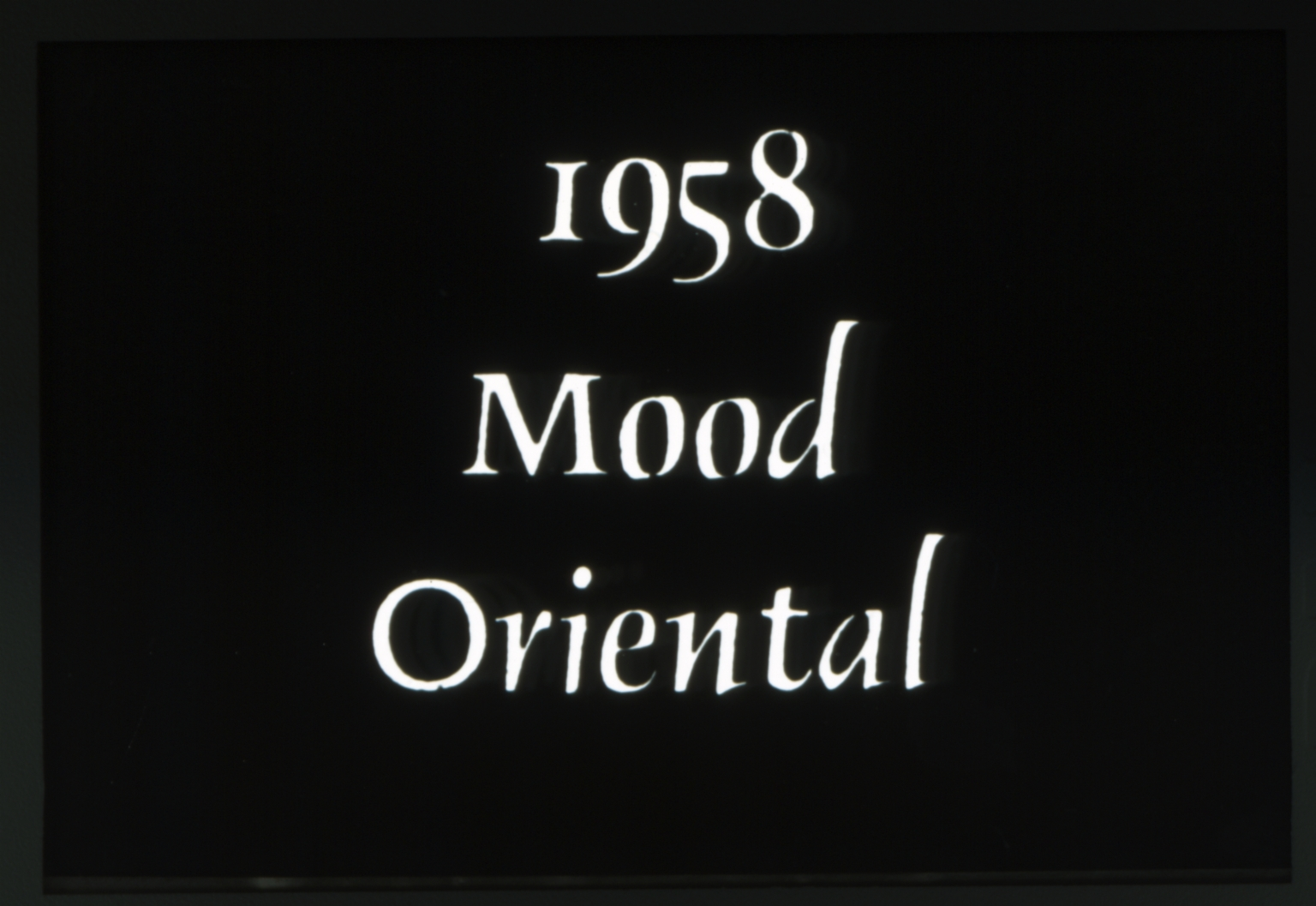 1958 Spring Weekend parade - Mood Oriental