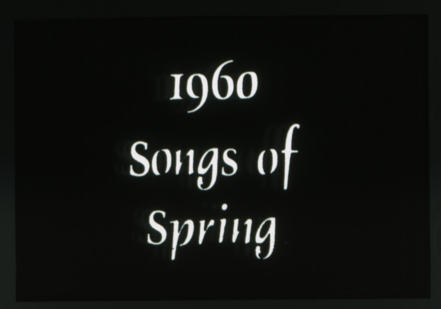 1960 Spring Weekend theme