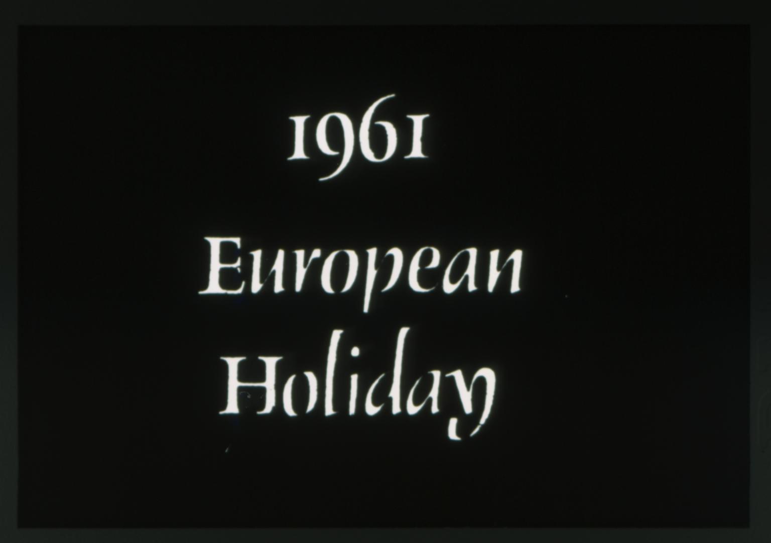 1961 Spring Weekend theme - European Holiday