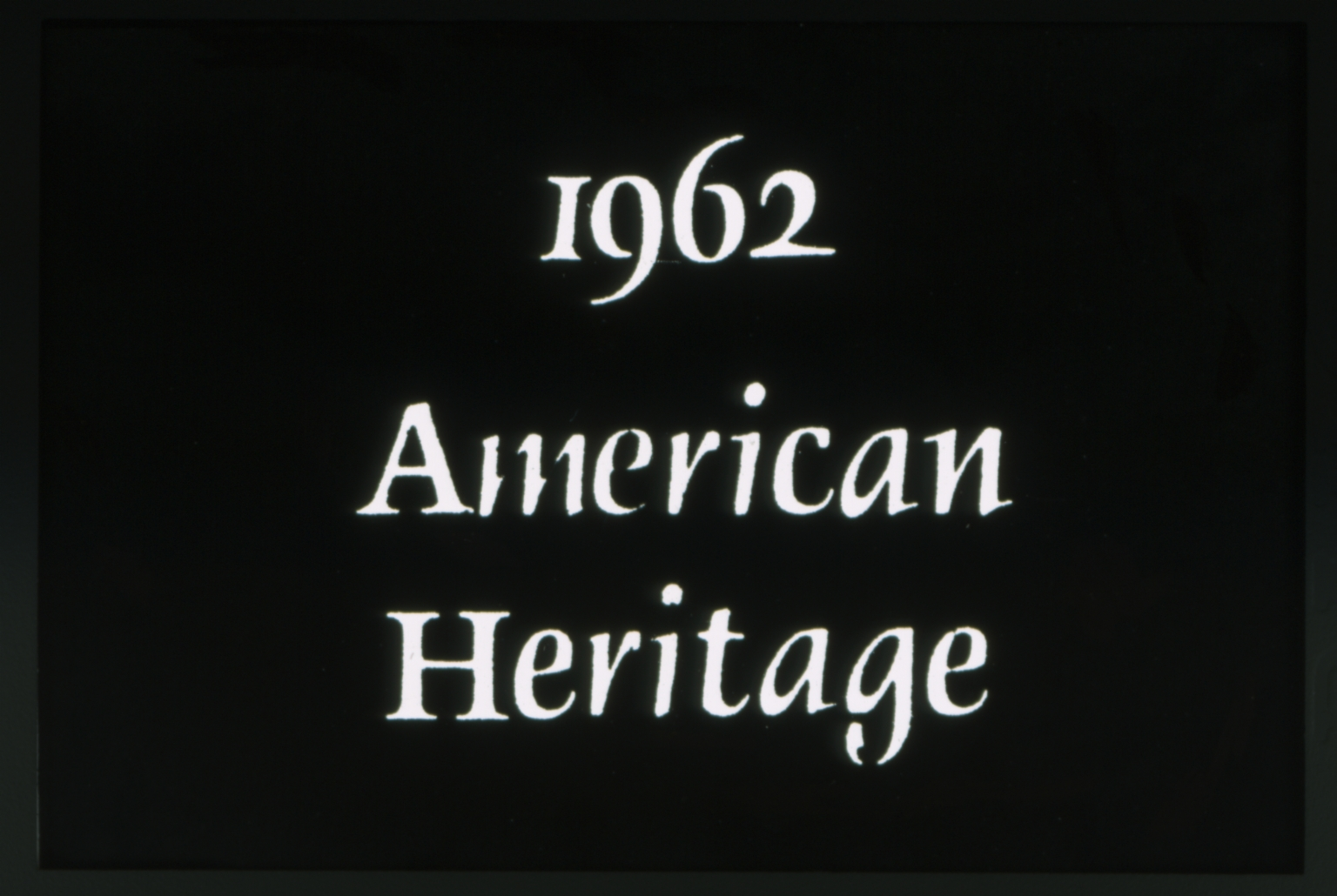1962 Spring Weekend theme - American Heritage