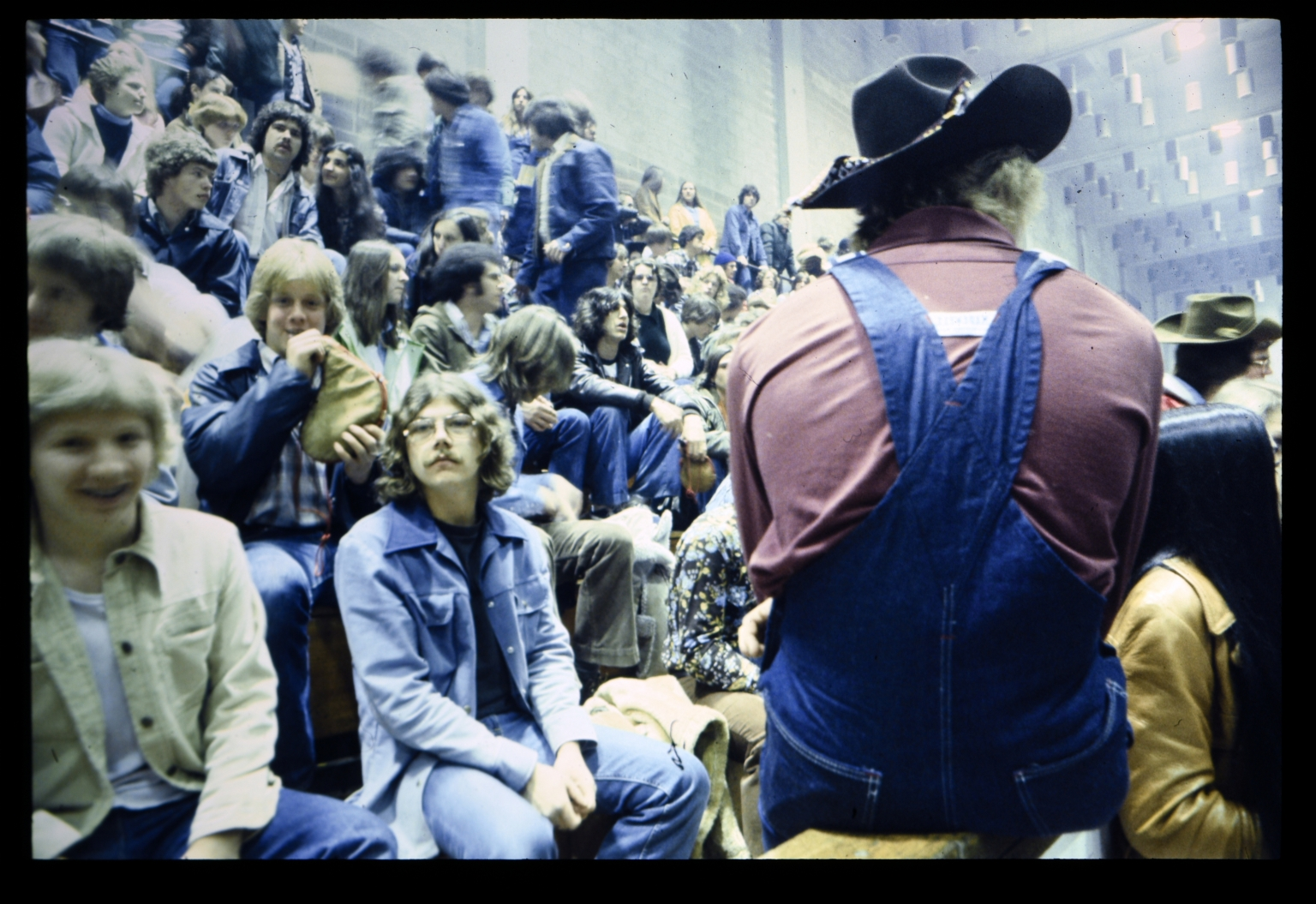 Students gather in Ritter Ice Arena