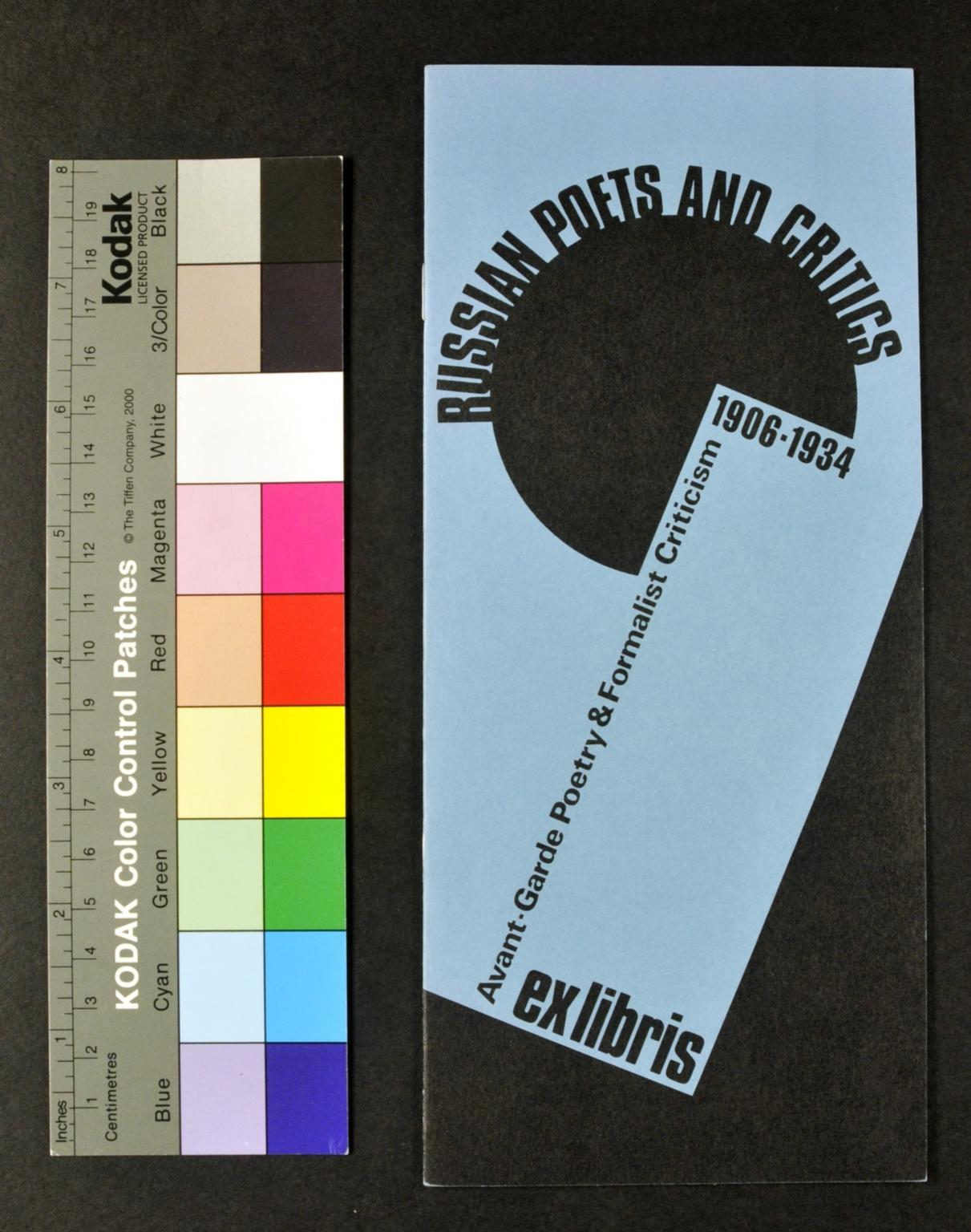 Russian poets and critics: Avant-garde poetry & formalist criticism, 1906-1934